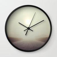 fog Wall Clocks featuring Fog by Spencer Martin