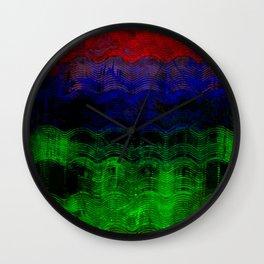 Abstract Rainbow Wall Clock