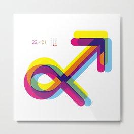 Sagittarius ~ Zodiac Metal Print