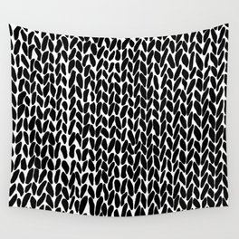 Hand Knitted Black S Wall Tapestry