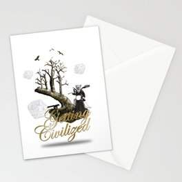 Getting Civilized Stationery Cards