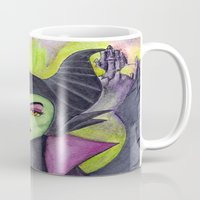 maleficent Mugs featuring Maleficent by Tanya Davis Art