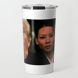 Pussy Grabs Back: Lucy Liu vs. Donald Trump Travel Mug