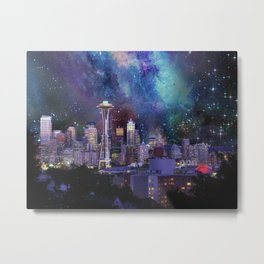 Spacey Seattle Metal Print