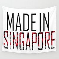 singapore Wall Tapestries featuring Made In Singapore by VirgoSpice