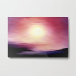 sunset in september. Metal Print