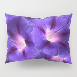 PURPLE MORNING GLORIES FLORAL ART Pillow Sham