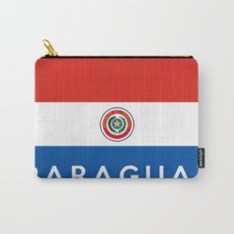 Paraguay country flag name text Carry-All Pouch