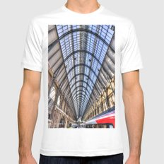 Kings Cross Station London MEDIUM Mens Fitted Tee White