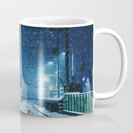 Shimotakaido Station Snow Coffee Mug