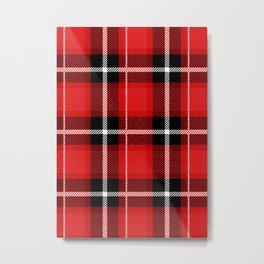 Red + Black Plaid Metal Print