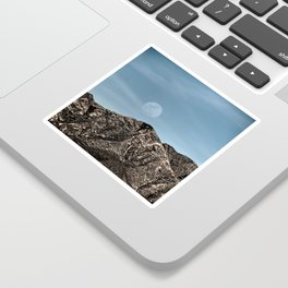 Moon over the Franklin Mountains Sticker