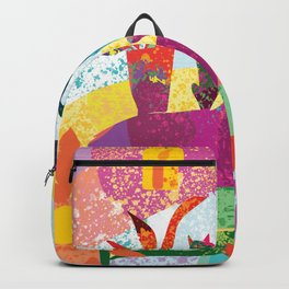 Cat and Dog Abstract Still Life Backpack