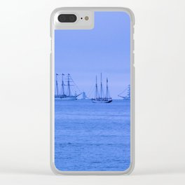 Tall Ships in a Group Clear iPhone Case