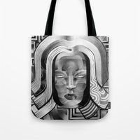 art deco Tote Bags featuring Deco by Mouseizm