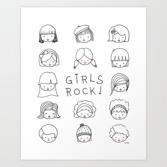 Girls Rock! Art Print