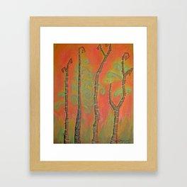 African Birch Framed Art Print