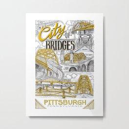 City Of Bridges Metal Print