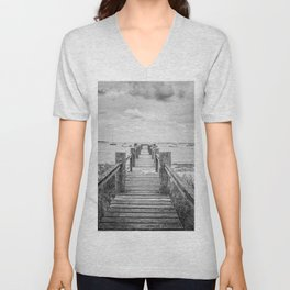 Old Dock Hyannis Port Cape Cod Ma Unisex V-Neck