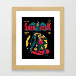 Sherlock Comic Framed Art Print