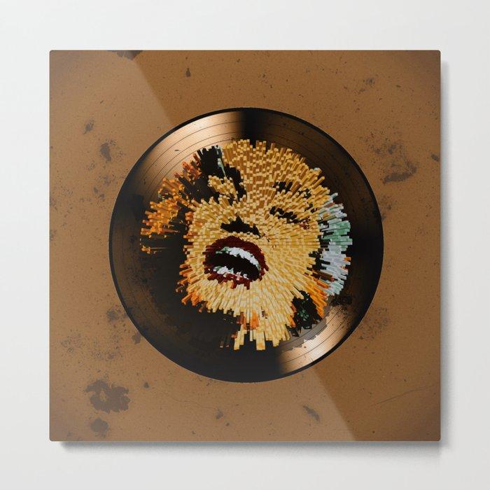 Vinyl No.4 Metal Print