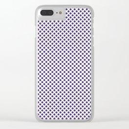 Prism Violet Polka Dots Clear iPhone Case