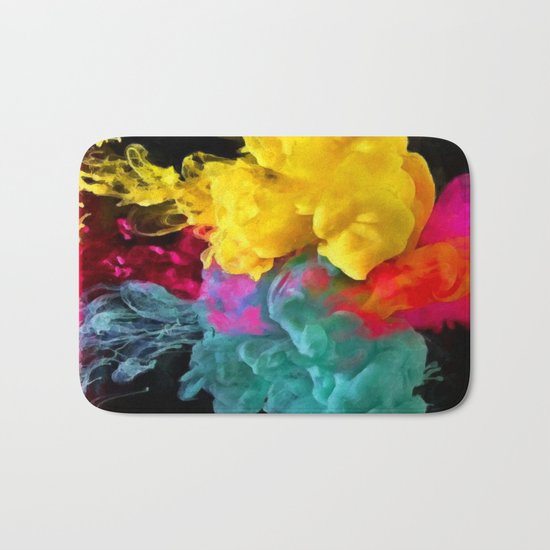 Multicolored ink in water Bath Mat