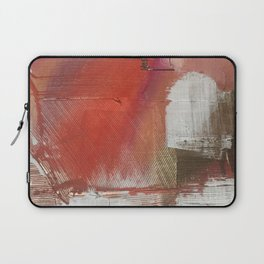 California Sun [2]: a minimal, abstract piece in reds and gold by Alyssa Hamilton Art Laptop Sleeve