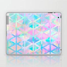 Pink pastel aztec pattern Laptop & iPad Skin