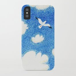 Seagull in the sky iPhone Case