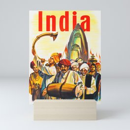 Air-India International - Vintage Airline Poster Mini Art Print