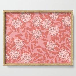 Asian chrysantheme soft pink Serving Tray