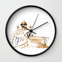 Two wisemen painting a brand new world Wall Clock