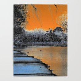 Lake Wendouree Winter Sunset Poster