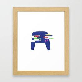 Glitch Controller Framed Art Print