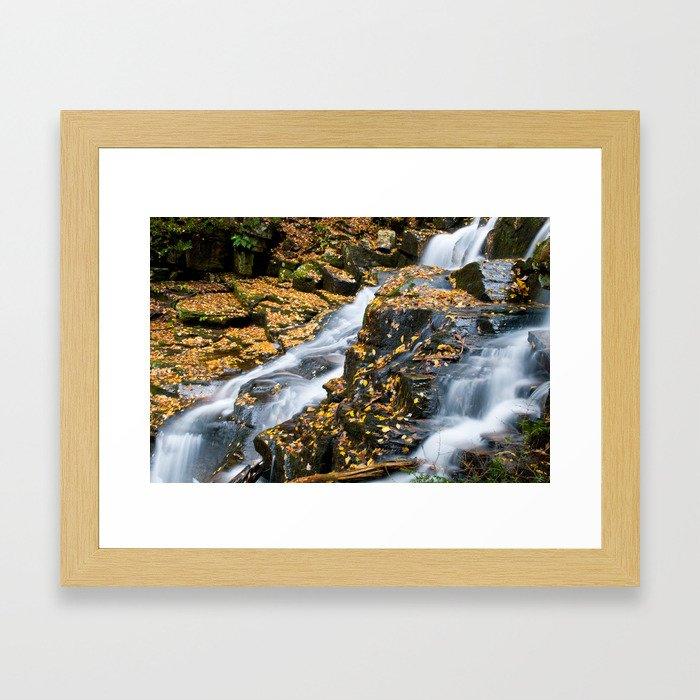Lake George Waterfall Framed Art Print