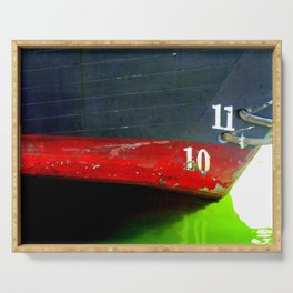 Wooden boat hull abstract. Serving Tray