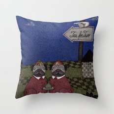 Tea for Two (2) Throw Pillow