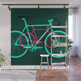 Fixed Gear Road Bikes – Green and Pink Wall Mural