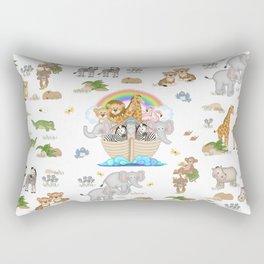 Noahs Ark Animals Rectangular Pillow