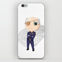 battlestar iPhone & iPod Skins featuring Colonel Tigh | Battlestar Galactica by The Minecrafteers