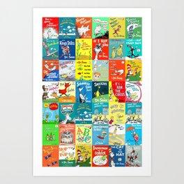 Dr. Seuss Book Covers Art Print