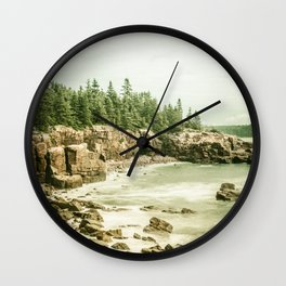 Acadia National Park Maine Rocky Beach Wall Clock