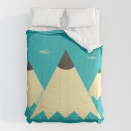 Pencil Mountains Comforters
