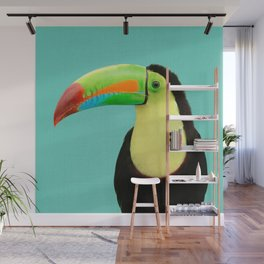Toucan Bird - Blue Wall Mural