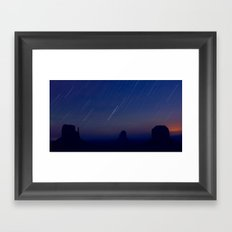 Monument Valley Star Trails Framed Art Print