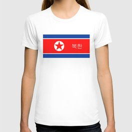 north korea country flag korean name text T-shirt