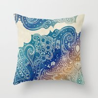 princess Throw Pillows featuring Mermaid Princess  by rskinner1122