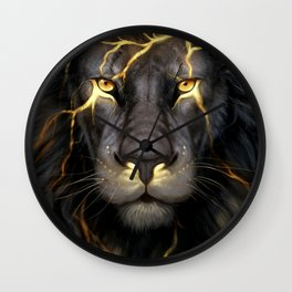 LION-GOLD-ART Wall Clock