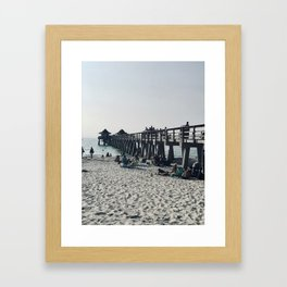 """Pier in Naples, Florida"" Photography by Willowcatdesigns Framed Art Print"